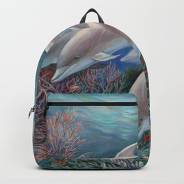 Happy Family - Dolphins Are Awesome Backpack