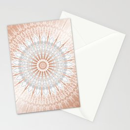 Rose Gold Gray Mild Mandala Stationery Cards