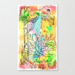 Rabbit Race Canvas Print
