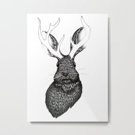 The Jackalope Metal Print