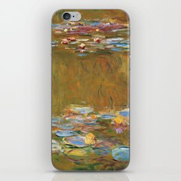 """Claude Monet """"The Water Lily Pond"""", c.1917-19 iPhone Skin"""