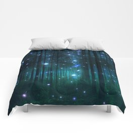 Glowing Space Woods Comforters