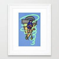 gurren lagann Framed Art Prints featuring gurren lagann - simon by gutter