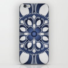 Spanish Flower in Blue iPhone & iPod Skin