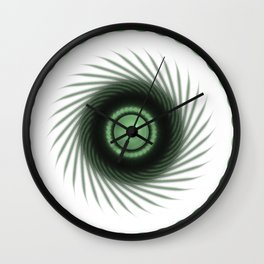 A Touch of the Green Eye Wall Clock