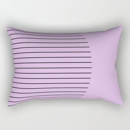 Crescent - Pastel pink and black minimalism Rectangular Pillow