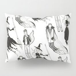 Happy Monsters (in white) Pillow Sham