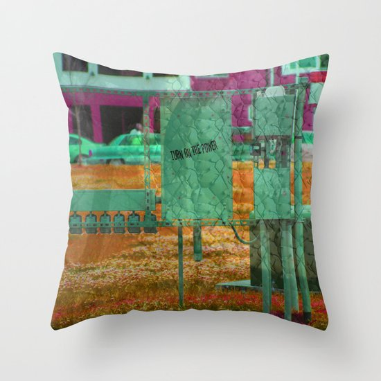 Turn on the Power Throw Pillow