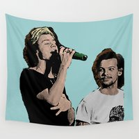 larry Wall Tapestries featuring Pop Art Larry Stylinson  by JodiYoung