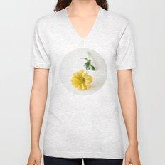 Yellow Flower StillLife Unisex V-Neck