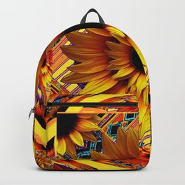 AWESOME GOLDEN SUNFLOWERS  PATTERN ART Backpack