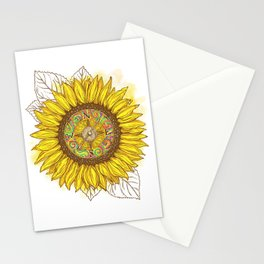 Sunflower Compass Stationery Cards