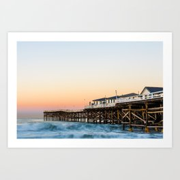 Crystal Pier Dawn Photograph by Priya Ghose Art Print