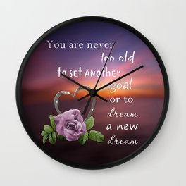 Never Too Old Wall Clock