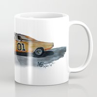 general Mugs featuring General Lee by AshyGough