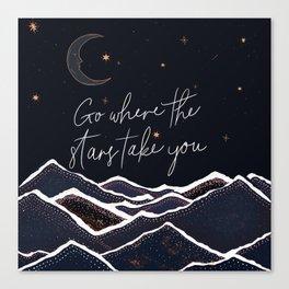 Go where the stars take you Canvas Print