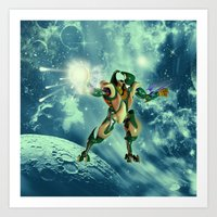 robot Art Prints featuring Robot  by nicky2342