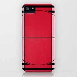 August - lined graphic iPhone Case