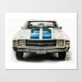 CLASSIC CAR LOVE Canvas Print