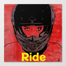 Ride / title Canvas Print
