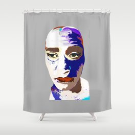 Zabéonnai, She Keeps the Secrets of the Universe Shower Curtain