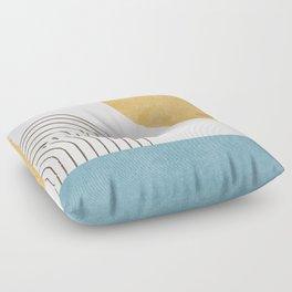 Sunny ocean Floor Pillow