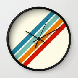 Alator - Classic 70s Retro Summer Stripes Wall Clock