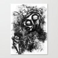 van Canvas Prints featuring Van by MorbidLittleThings