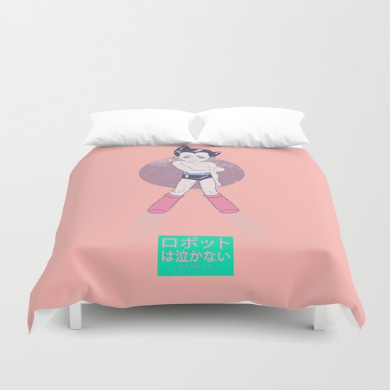 ROBOTS don't cryロボットは泣かない Duvet Cover