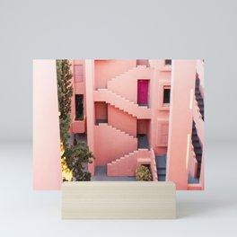 Muralla Roja photography print   abstract travel art   escher like building architecture photo Mini Art Print