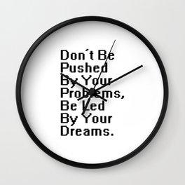 Proverb I Wall Clock