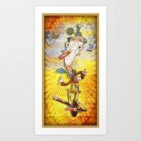 clown Art Prints featuring Clown by José Luis Guerrero