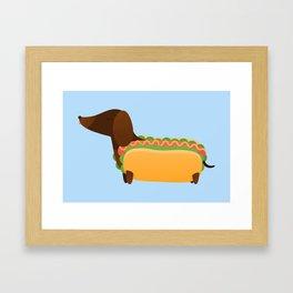 Wiener Dog in a Bun Framed Art Print