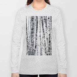 Birch Trees In Winter Long Sleeve T-shirt