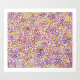 Artemis 11 Purple Watercol Art Print