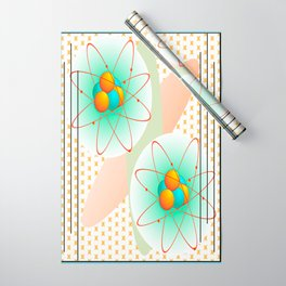 Mid-Century Modern Art Atomic 1.0 Wrapping Paper