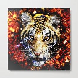 The volcano tiger  Metal Print