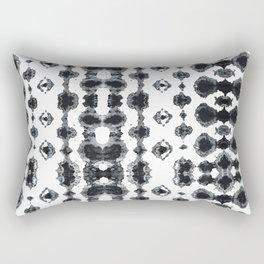 Shibori Ikat Habotoi BW Rectangular Pillow