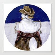 Frosty the Cowboy Canvas Print