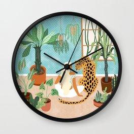 Urban Jungle #illustration #botanical Wall Clock