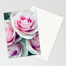 'La Vie Est Belle' (Life is Beautiful) Pink Roses Stationery Cards