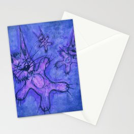 Record Cover for some Jazzed Rabbits, Blueish. Stationery Cards