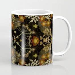Dark Floral Roses Coffee Mug