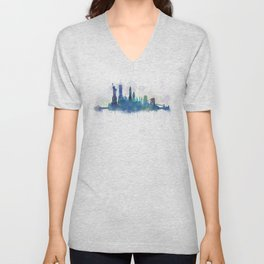 NY New York City Skyline Unisex V-Neck