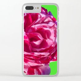 red white rose photograph by cecilia lee Clear iPhone Case
