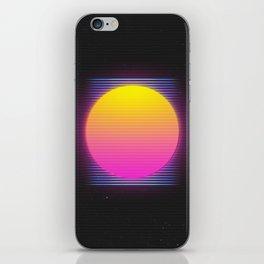 Retro 80's Neon Sunrise iPhone Skin