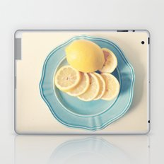 Lemons on Blue Laptop & iPad Skin