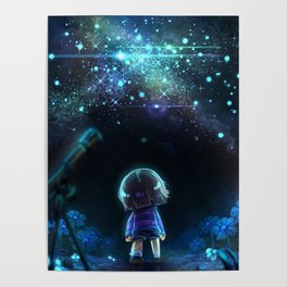 Starry (Night) Undertale Poster