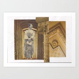 Two-stage column: vacuum Art Print