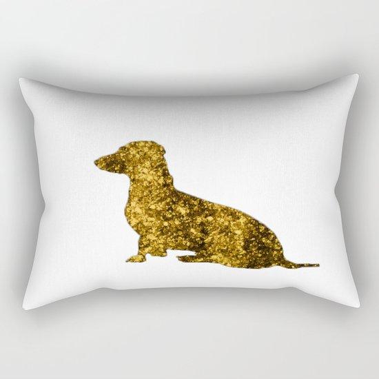 I LOVE my Dachshund - Luxury glitter dog Rectangular Pillow